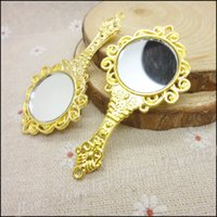 Wholesale gold plated Mirror Charms Pendant Fit Bracelets Necklace DIY Metal Jewelry Making