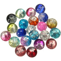 Wholesale Mixed Color Spacer Beads mm Crystal Crack Glass Round Bead for Band Bracelet Loose Chram