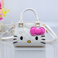 Wholesale Baby Girls PU Leather Mini Size Quilting Hello Kitty Handbag For Party Children s Cartoon Single Shoulder Bag