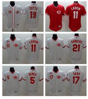 best benches - 2016 Best quatily jersey Cincinnati Reds BENCH LARKIN SABO VOTTO SANDERS Jersey Red White Stitched Flex Base Baseball Jers