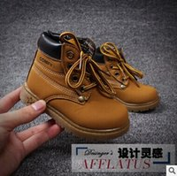 Wholesale 2016 New Children Martin boots Short dermis ankles boots autumn winter boys girls baby snow boots kids shoes of footwear