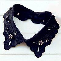 ascot blouse - Hot Sale Women Detachable Collar Clothes Accessories White Black Blouse False Collars SC035