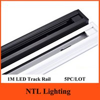 Wholesale PC New M LED Track light Rail For Tracking lights integration lamp fixture store shopping mall lighting line wire rail