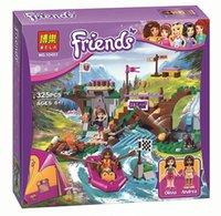 adventure set - BELA Friends Adventure Camp Rafting Minifigures Building Blocks Set Model Compatible Toys Friends Brick Girl Toys