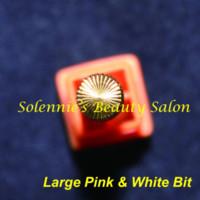 airbrush manicure - Large Pink amp White Bit Nail Bit For Nail Art Electric Nail Drill Manicure Machine nail art airbrush system