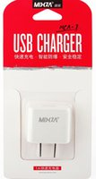 Wholesale MIXZA V A Universal USB Charger Travel Wall Charger Adapter Portable US Plug Smart Mobile Phone Charger for iPhone Tablet