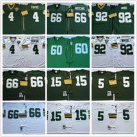 bart starr football - Mens Brett Favre Reggie White Bart Starr Ray Nitschke Paul Hornung green white throwback Football Jerseys