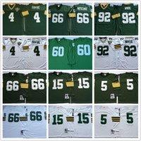 bart starr football jersey - Mens Brett Favre Reggie White Bart Starr Ray Nitschke Paul Hornung green white throwback Football Jerseys