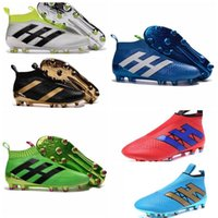air zoom control - No lace up Football Boots Outdoor ACE Purecontrol Kids Boots FG AG Mens pure control Soccer Cleats Shoes Green Black Gold Blue White