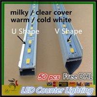 Wholesale 50pcs Free DHL rigid LED Bar light DC V m Hard Rigid LED Strip Bar Lights U V Aluminium shell