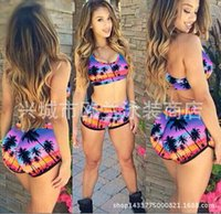 Polyester agent sets - Sexy trangle Swimwear bikini womens bandage bikinis set push up swimsuits secret bathing suits agent provocateur bikini