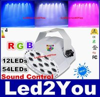 Wholesale 2016 Brand New LEDs W RGBW DMX Stage Lights Business Lights Led Flat Par High Power Light with Professional for Party KTV Disco