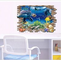 Wholesale Finding Nemo Wall Stickers D Finding Dory Wallpapers Waterproof Removable Wallpaper Shark Marine Art Wall Decals Home Decoration B378