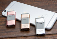 Wholesale 3 in OTG GB GB GB GB USB FLASH Drive For iPhone Plus S iPad Pen Drive HD Memory Pendrive