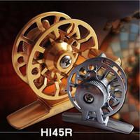 Wholesale HI45R Light All Metal Fly Reels Front End Raft Winter Ice Fishing Reel CNC Fine Workmanship