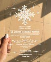 Wholesale Customized Engraved Love Birds Invitation Cards With Envelope Acrylic wedding invitation cards free ship ZD065B