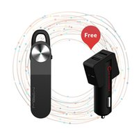 Wholesale MIPOW Bluetooth Headsets Wireless Ear Hook Style Earphones HandFree Dual USB Car Charger for Mobile Cell Phone iPhone Sumsang