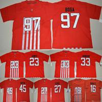 Wholesale 2016 Ohio State Buckeyes College Football Alternate Elite Red Jersey Bosa Barrett George Griffin Johnson James Jersey