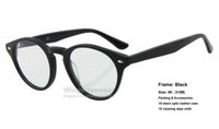 astigmatism optics - Retro classical optic eye glasses RB2180 V Round Acetate style Black frame for astigmatism hyperopia myopia size high end fashion