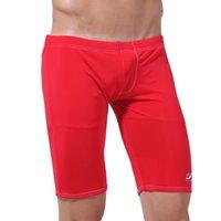 Wholesale Mens Swimming Trunks Beach Swimwear Short Surf Boxer Slim Sexy Swim Trunks Swimsuit Shorts Asian Size M L UL0053