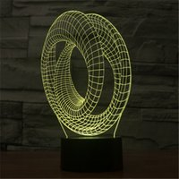 architectural lamps - 3D three dimensional architectural LED lamp home decoration night light childrens bedroom appliances D TD38