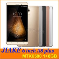 Wholesale 6 quot JIAKE A8 Plus MTK6580 quad core Android G GB smart phone HD mp Dual SIM camera gesture G unlocked with case Colors