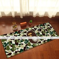Wholesale yazi Green Camouflage Ape Bath Door Mat Non Slip Backing Kitchen Floor Rug x44cm