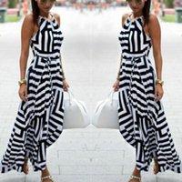 Wholesale Ladies Bohemian Long Dress - 2016 Brand New Ladies Womens Maxi Boho Summer Sleeveless Long Skirt Casual Dresses 1 Pc Free Shipping[CW04836]