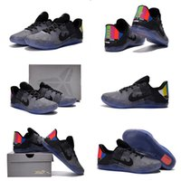 badminton tv - High Quality Hot Sale Kobe XI TV Wolf Cool Grey BLACK Men Basketball Sport Sneakers Trainers Shoes