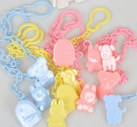 animal feed products - Baby care Pacifier Holders Clip Baby Dummy Chain Feeding Product Animal Cartoon Baby Pacifier Anti lost Chain Accessories High Quality