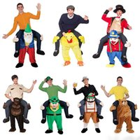 bear novel - 2017 novel Funny Carry Me Fancy Dress Up Party Mascot Halloween Costume Ride On Bear Ride On Oktoberfest Mascot Costumes