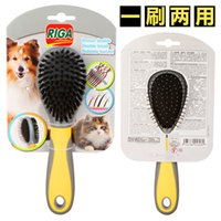 advanced cleaning products - Manufacturers selling advanced double sided rubber handle massage comb pet comb needle dog brush160801