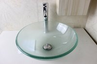 bathroom furniture vanities - Glass Basin Vanity bathroom wash sink Wash Basin Glass Bowl glass sink bowl bathroom furniture N