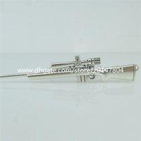 antique sniper rifles - 15323 Alloy Antique Silver Vintage Large Weapon Sniper Rifle Pendant