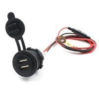 Wholesale New Hot Univesal V V Dual USB Motorcycle Car Cigarette Lighter Socket Charger Power Adapter Outlet