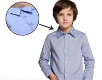 Wholesale Baby Boys Clothes Shirts Childrens Long Sleeve for Kids Clothing fashion blue New Autumn Spring
