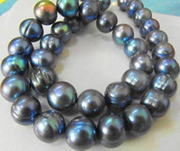 Wholesale RARE TAHITIAN MM SOUTH SEA BLACK BLUE PEARL NECKLACE INCH K GOLD CLASP