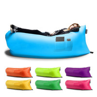 Wholesale Inflatable Lounger Air Sofa with Pockets Waterproof Hangout as Beanbag Inflatable Hammock Outdoor or Indoor Lounge Chair Beanbag