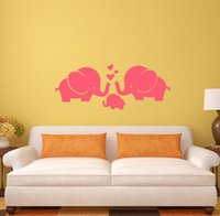 baby nursery decorating - 2016 Hot Selling Elephants Wall Sticker Baby Nursery DIY Elephant Removable Wall Decals Kids Room Decorating Children Animal Wall Decor