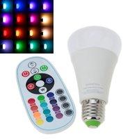 Wholesale 1pcs E27 RGBW W Led Spotlight AC110 V Light Bulb Lamp Multiple Color Remote Control Home Lighting CE RoHs Certificated