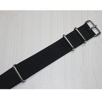 Wholesale Prompt delivery Black mm mm mm mm nato nylon watch strap with silver hardware