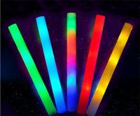 Wholesale LED Colorful Concert Party Club Cheer Sponge Glowsticks Glow Sticks cm sponge led foam stick xmas outdoor decorations