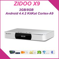 Wholesale ZIDOO X9 Boxes Android TV Box HDMI Recorder Boxes Quad Core G G Wifi Bluetooth K MSTAR MSO9180D1R Cortex Medie Player