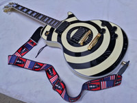 Wholesale Zakk Wylde bullseye black EMG Active pickups With V Battery Electric Guitar In Stock