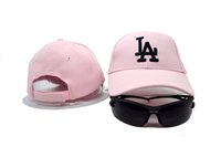 angeles outs - 2016 New Pink Color Los Angeles Dodgers Golf Visor Snapback Hats Fashion Stretched Adjustable Baseball Caps Summer Out Door Peaked Hats