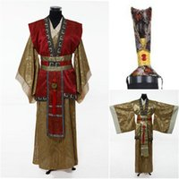 minister clothing - Chinese Man Han Clothing Emperor Prince Minister Show Cosplay Suit Robe Costume