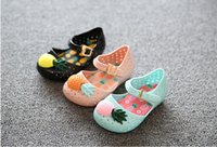 Wholesale 2016 Newest Melissa Girl Sandals Jelly Sandals Flat Shoes Kids Shoes Girl s Shoes Princess Shoes toddler Girl Sandal Pineapple Shoes