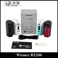 Wholesale Authentic Wismec Reuleaux RX200 Mod W TC Box Mod Tripple High Power Joyetech Chip Temperature Control Ni TI SS Mode
