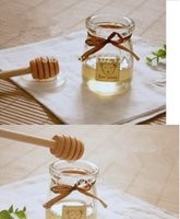 Wholesale 2000pcs cm MINI Wooden Honey Dippers Wedding Favors