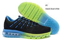 Wholesale New MAX Men s Training Shoes air cushion black blue orange sneakers size US7 US12